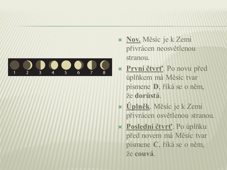  Nov. Měsíc je k Zemi přivrácen neosvětlenou stranou.