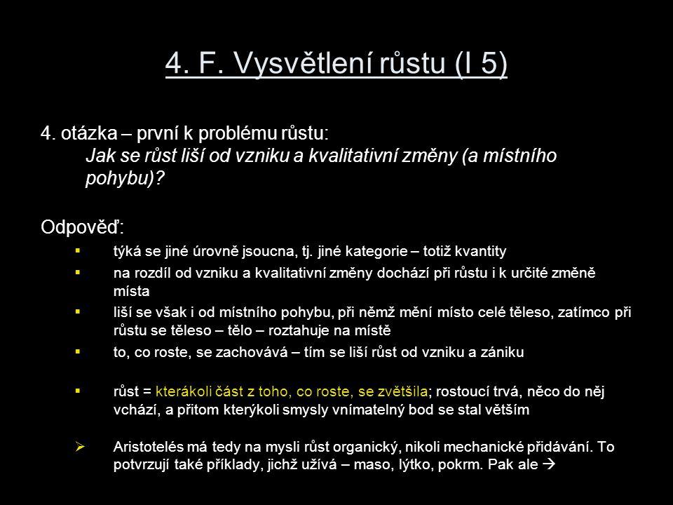 4. F. Vysvětlení růstu (I 5) 4.
