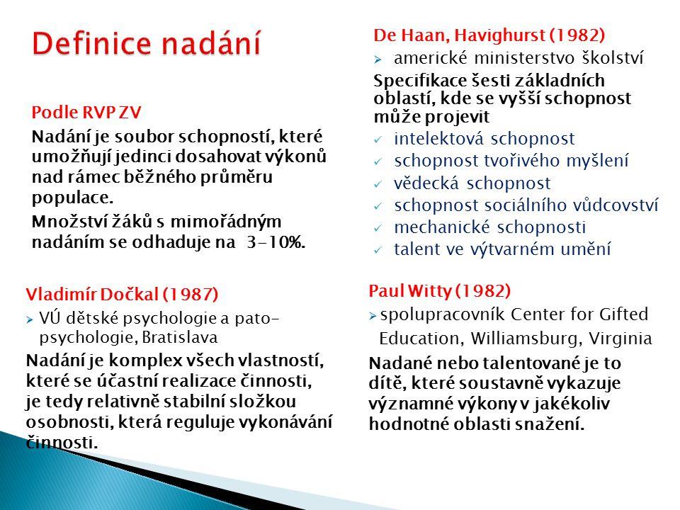 Abraham J.Tannenbaum (1986)  Psychologický model nadání Joseph S.