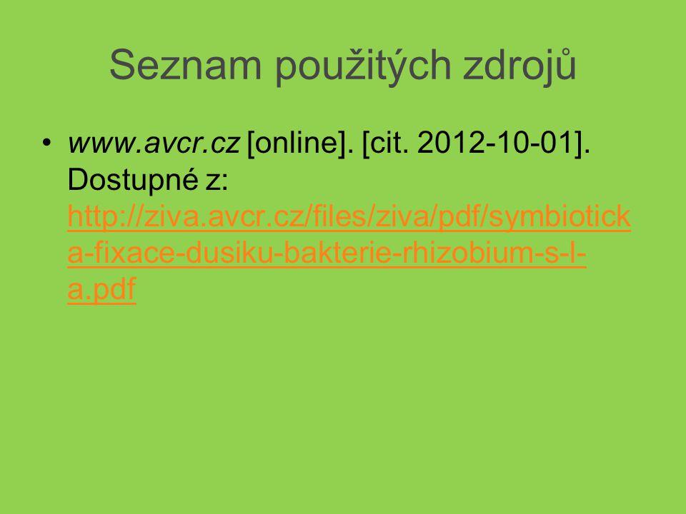 Seznam použitých zdrojů www.avcr.cz [online]. [cit.