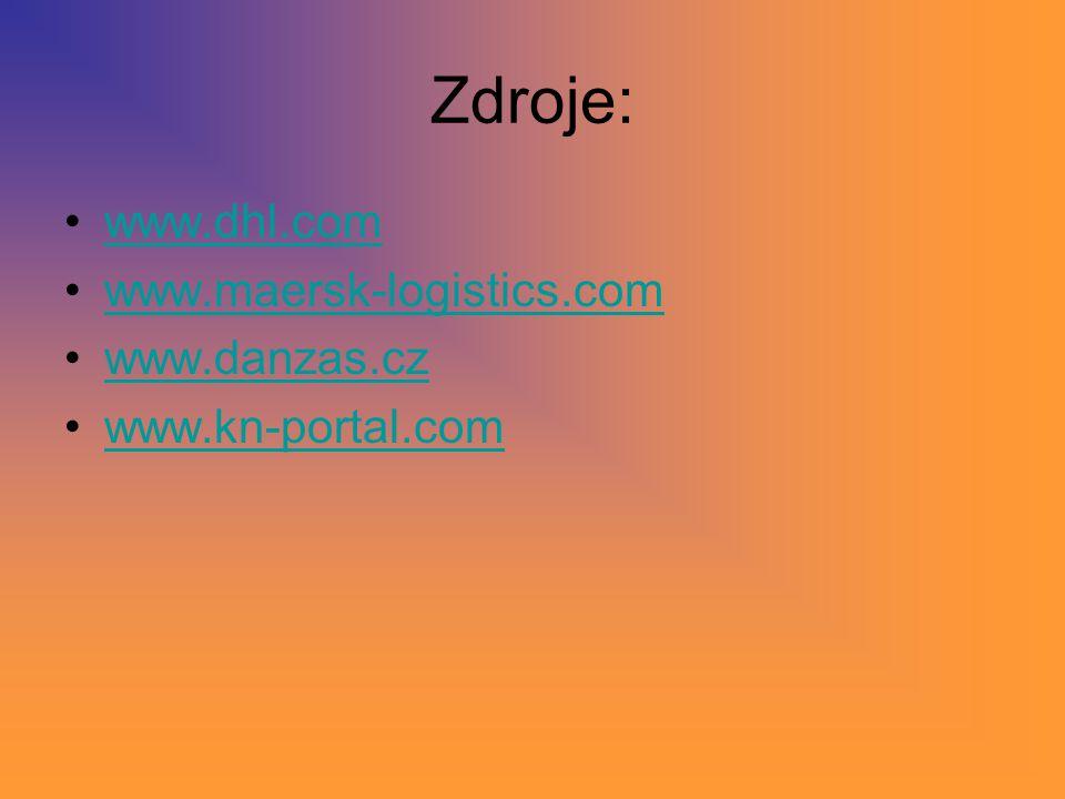 Zdroje: www.dhl.com www.maersk-logistics.com www.danzas.cz www.kn-portal.com