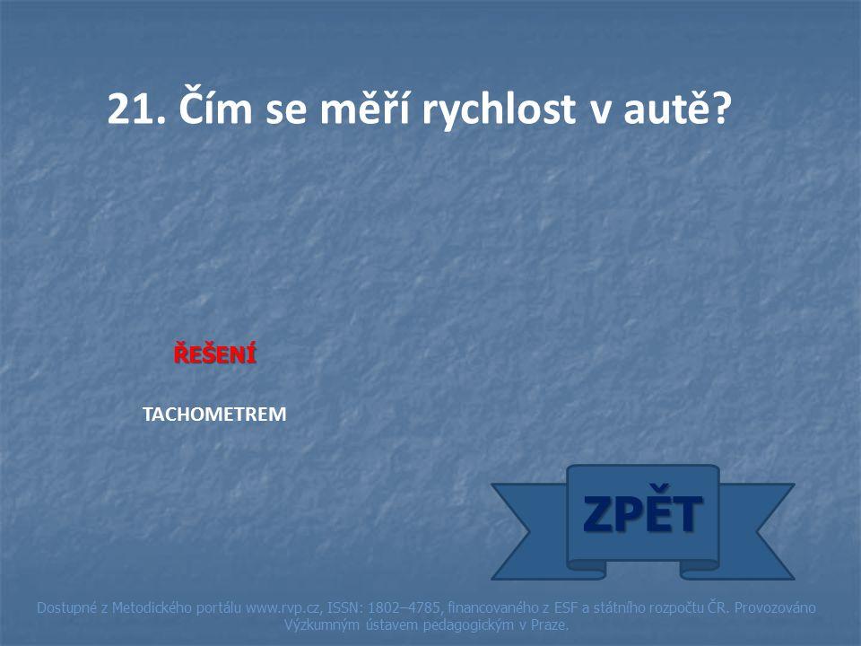 ŘEŠENÍ TACHOMETREM ZPĚT Dostupné z Metodického portálu www.rvp.cz, ISSN: 1802–4785, financovaného z ESF a státního rozpočtu ČR.