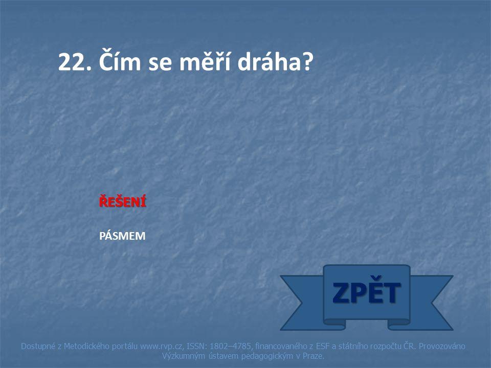 ŘEŠENÍ PÁSMEM ZPĚT Dostupné z Metodického portálu www.rvp.cz, ISSN: 1802–4785, financovaného z ESF a státního rozpočtu ČR.
