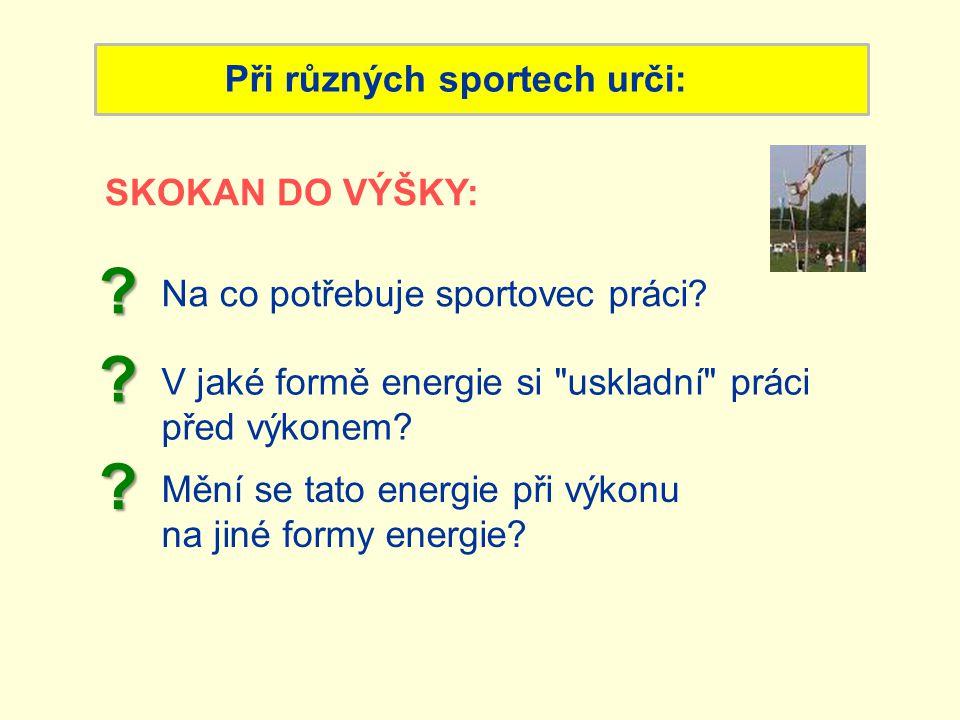PROJEKT 1) Na co potřebuje sportovec práci.