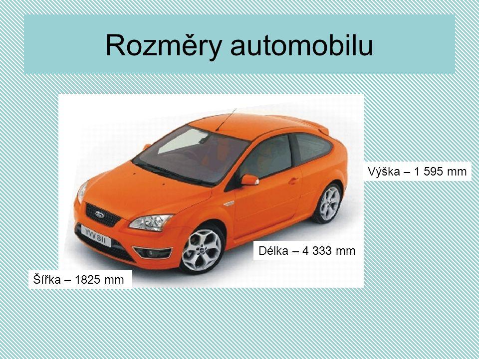 Rozměry automobilu Délka – 4 333 mm Výška – 1 595 mm Šířka – 1825 mm