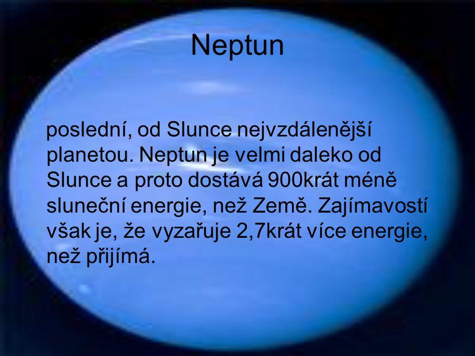 Uran sedmou planetou sluneční soustavy. Skládá se především z kamene a z různých typů ledu.