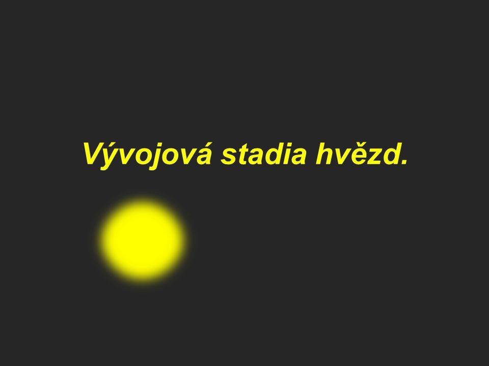 Vývojová stadia hvězd.