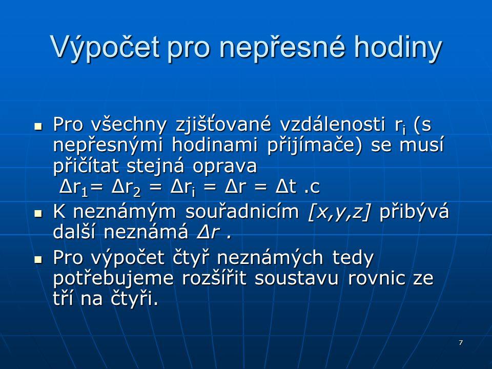 18 Permanentní stanice, korekce Síť stanic (např.