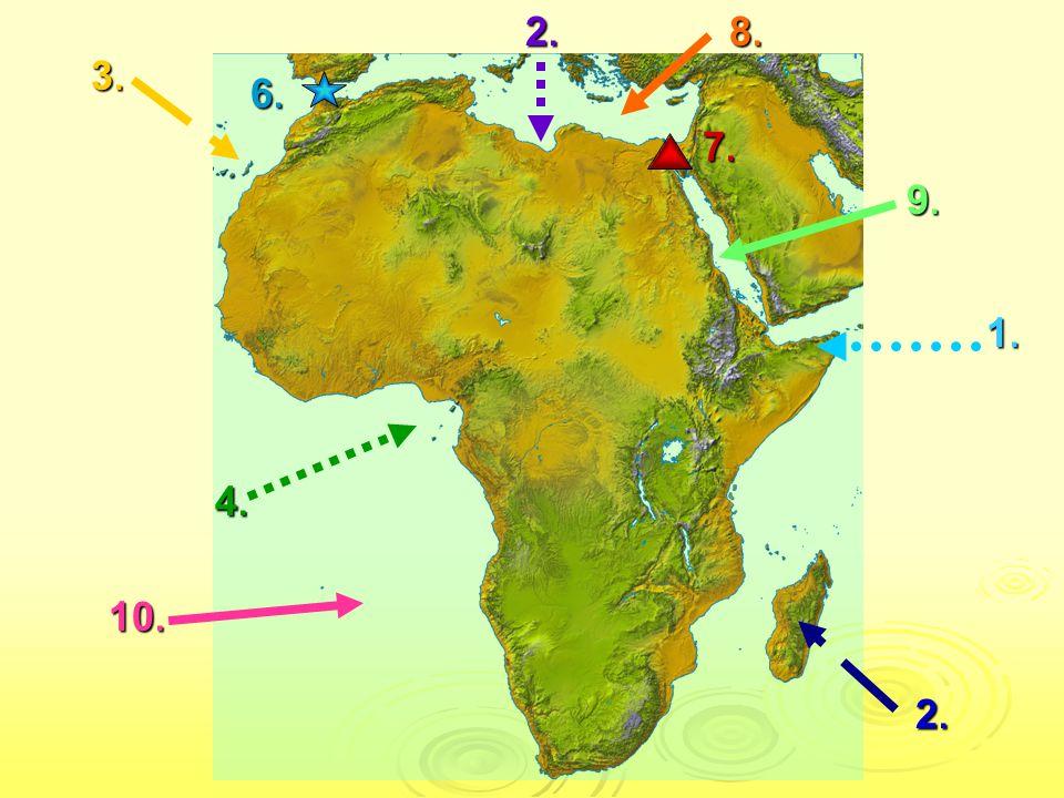 SPRÁVNÉ ODPOVĚDI 1.Somálský poloostrov 2. Madagaskar 3.