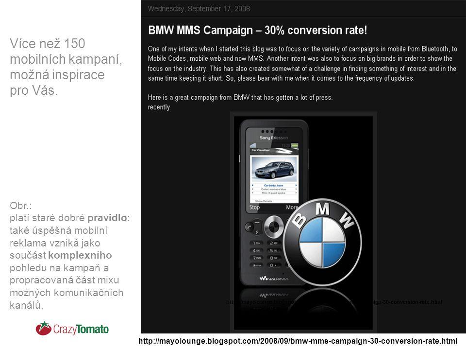 Více než 150 mobilních kampaní, možná inspirace pro Vás.