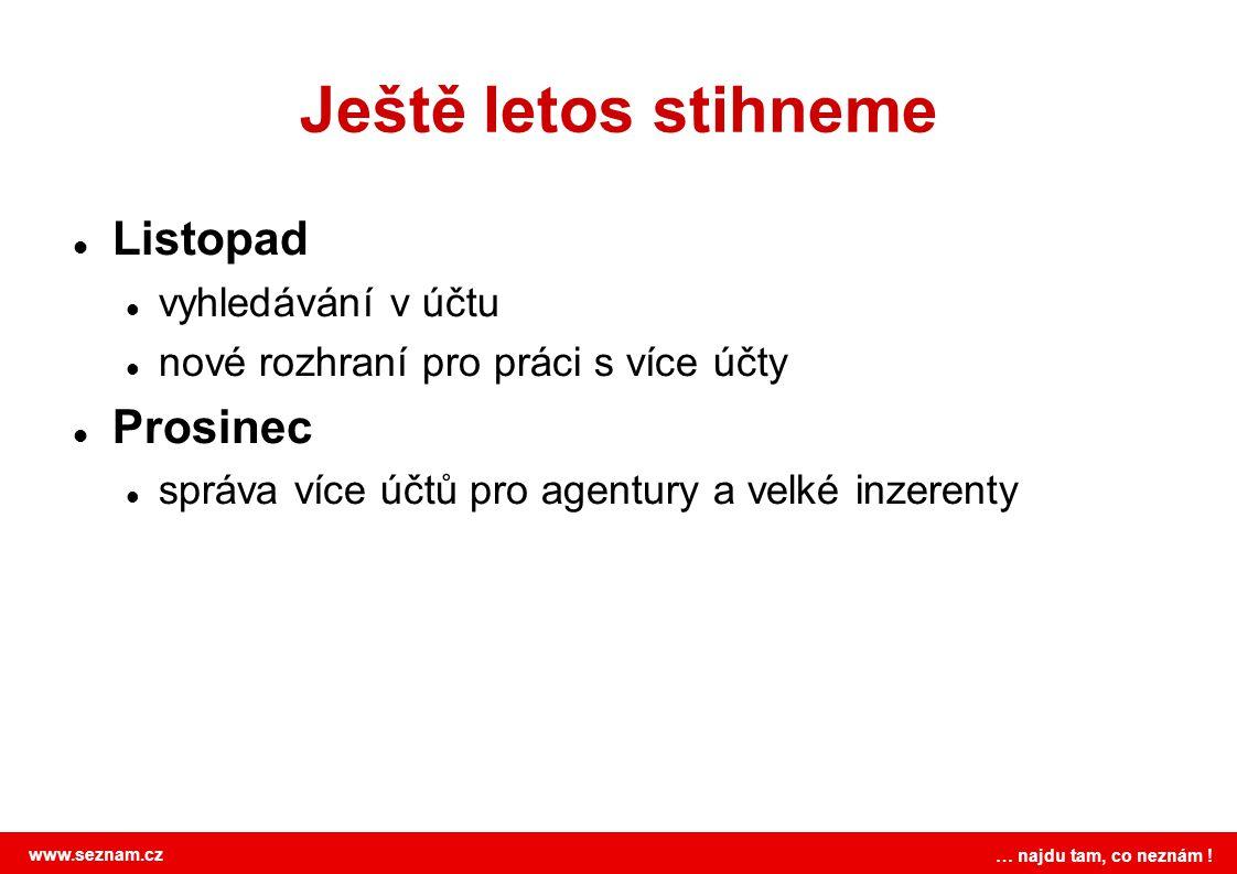 www.seznam.cz … najdu tam, co neznám ! Máte nějaké plány do budoucna? Ano