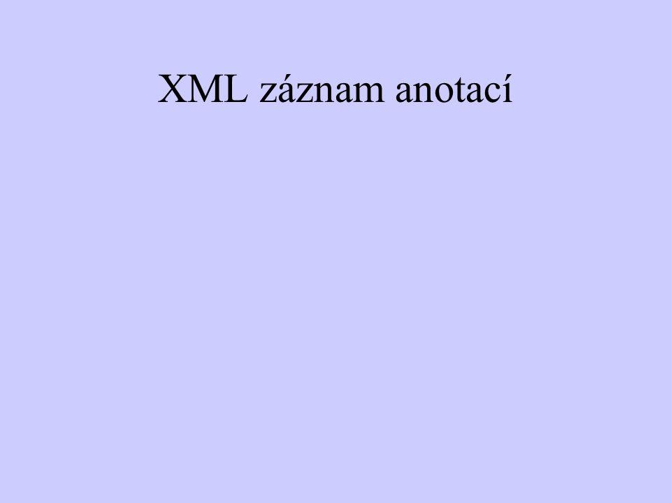 XML záznam anotací