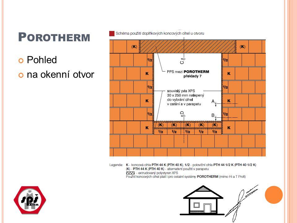 P OROTHERM – TVÁRNICE PRO OBVODOVÉ ZDIVO Porotherm 44: základní, poloviční, rohová, koncová