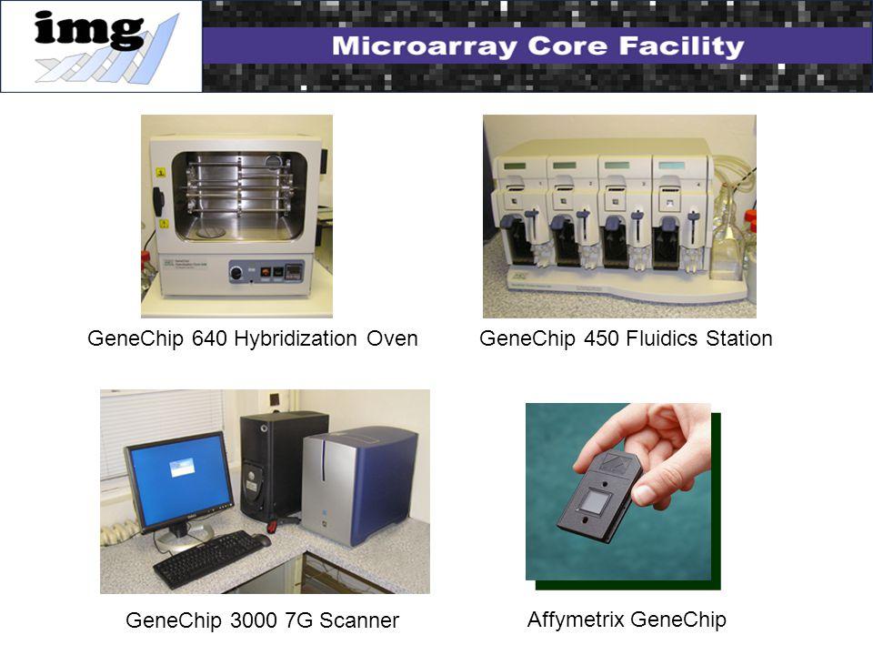 GeneChip 450 Fluidics StationGeneChip 640 Hybridization Oven GeneChip 3000 7G Scanner Affymetrix GeneChip