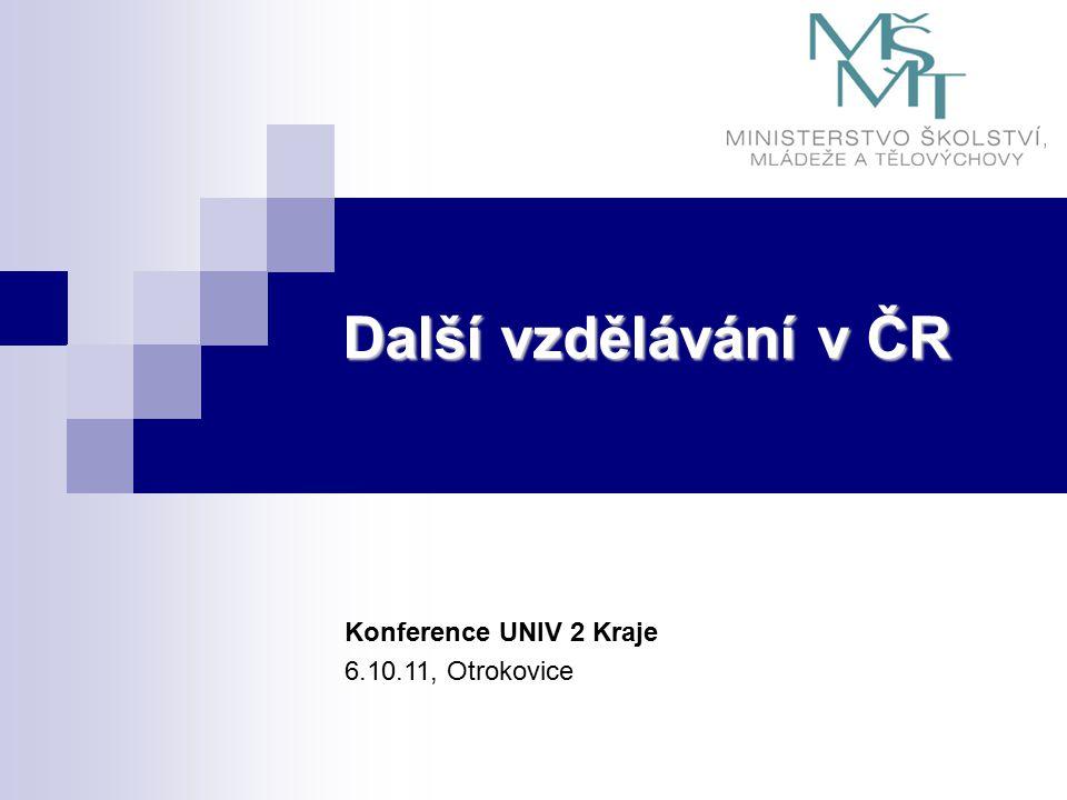 Další vzdělávání v ČR Konference UNIV 2 Kraje 6.10.11, Otrokovice