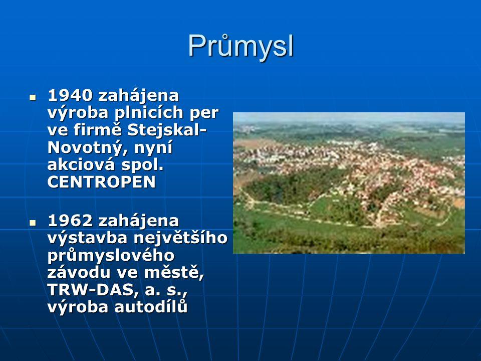 Průmysl 1940 zahájena výroba plnicích per ve firmě Stejskal- Novotný, nyní akciová spol.