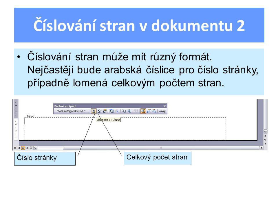 Úloha Vytvořte nový dokument Wordu, nastavte mu stránku na šířku s okraji 18 mm na každé straně a stránku rozdělte na dva sloupce.