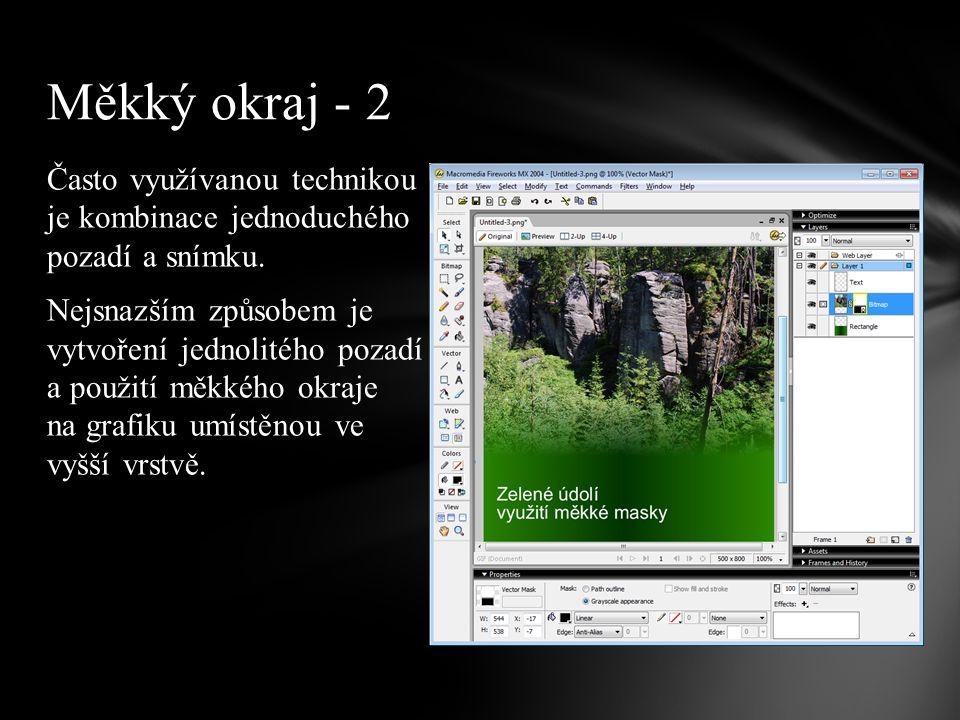 Často využívanou technikou je kombinace jednoduchého pozadí a snímku.
