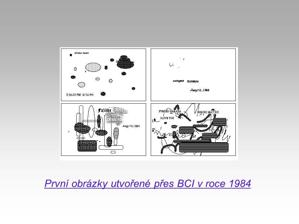 První obrázky utvořené přes BCI v roce 1984