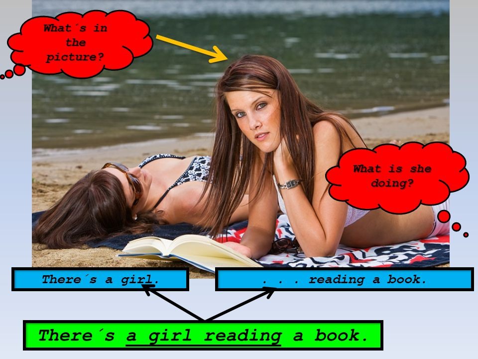 There´s another girl sunbathing. There´s another girl. She´s sunbathing.... sunbathing.