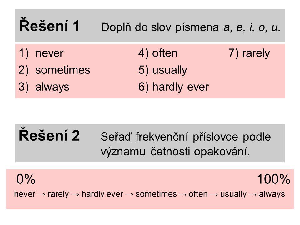Řešení 1 Doplň do slov písmena a, e, i, o, u.