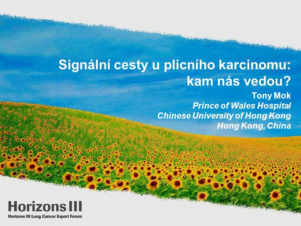 Signální cesty u plicního karcinomu: kam nás vedou? Tony Mok Prince of Wales Hospital Chinese University of Hong Kong Hong Kong, China