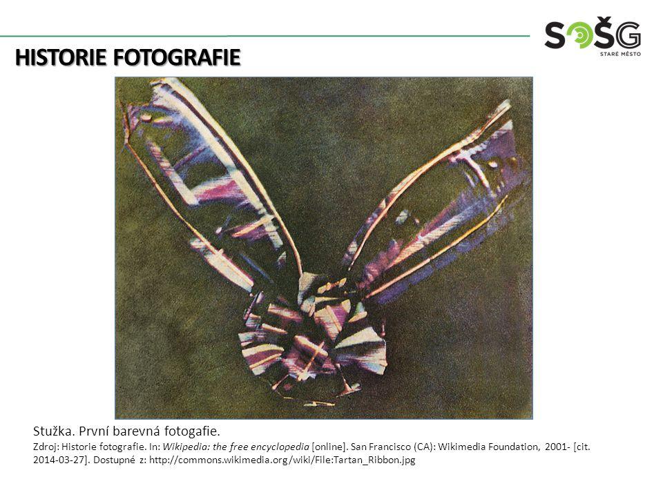 HISTORIE FOTOGRAFIE Stužka. První barevná fotogafie.