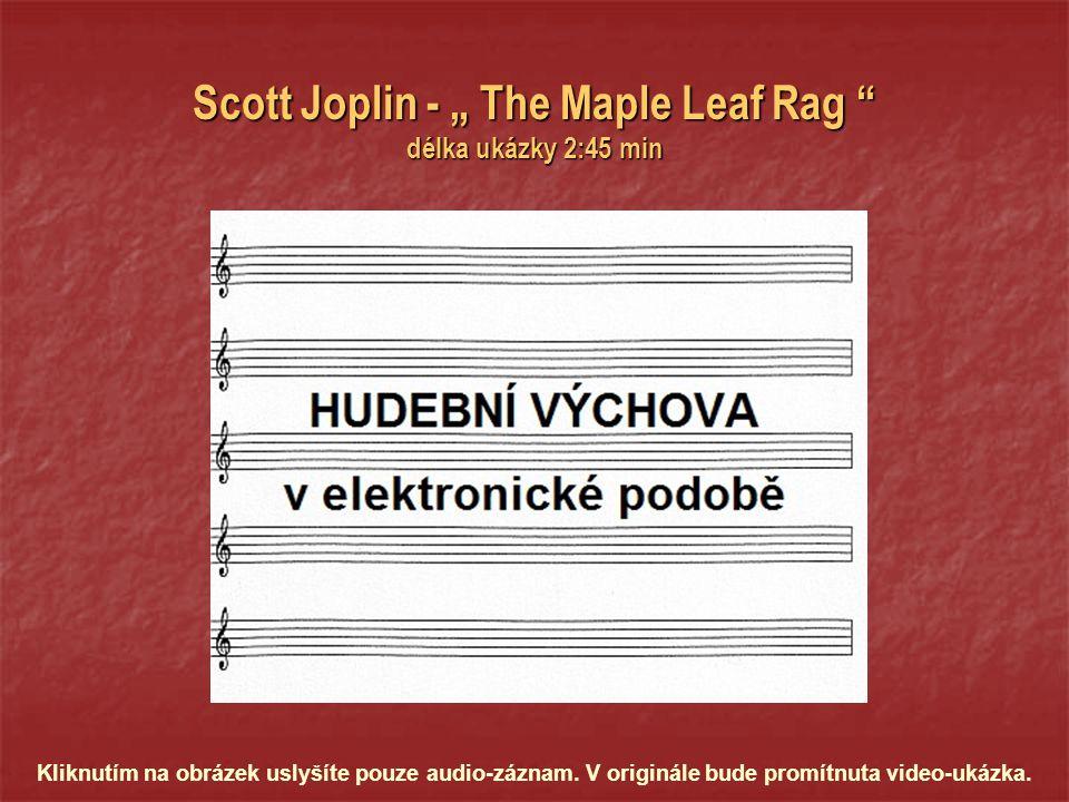 nejznámějším autorem ragtimů byl Scott Joplin