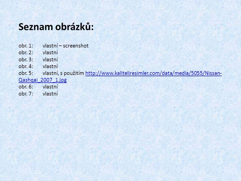 Seznam obrázků: obr. 1:vlastní – screenshot obr. 2:vlastní obr.