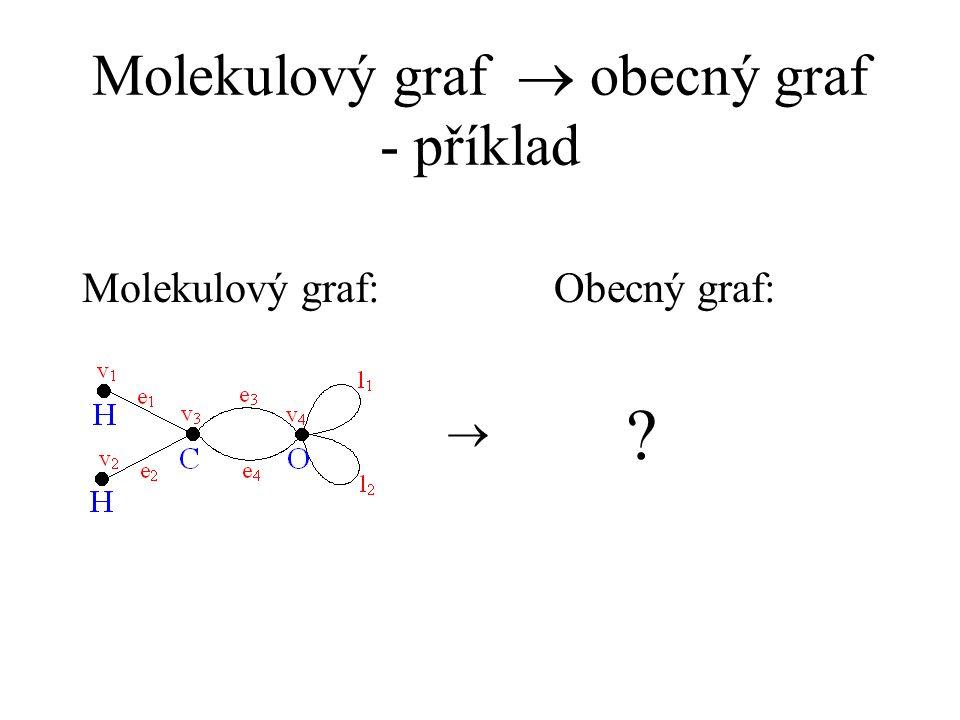 Molekulový graf  obecný graf - příklad Molekulový graf:Obecný graf:  ?