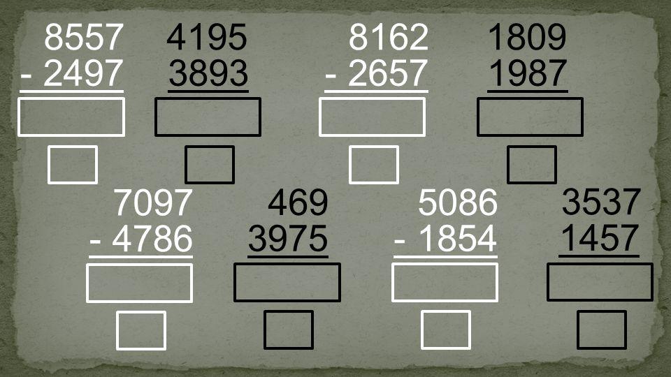 3893 4195 - 2497 8557 - 2657 8162 3975 469 - 1854 5086 1987 1809 - 4786 7097 1457 3537