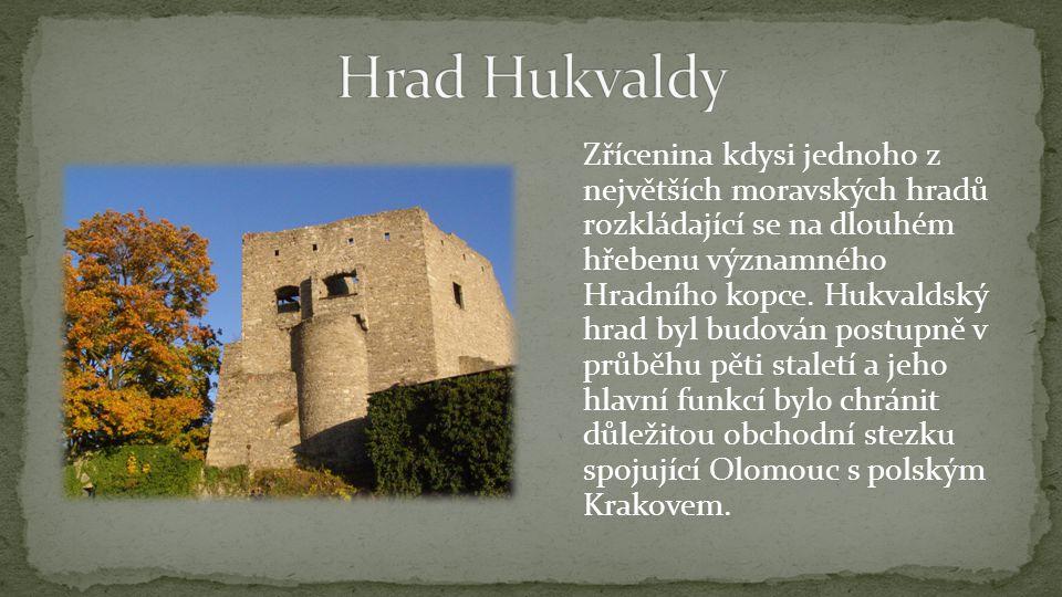 Zřícenina kdysi jednoho z největších moravských hradů rozkládající se na dlouhém hřebenu významného Hradního kopce.