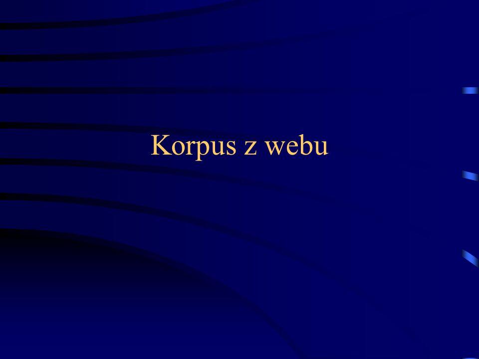 Korpus z webu