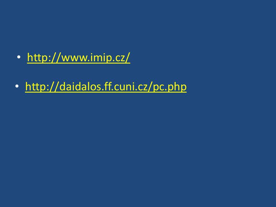 http://www.imip.cz/ http://daidalos.ff.cuni.cz/pc.php