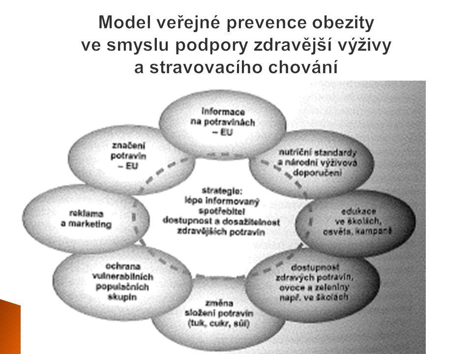 Model veřejné prevence obezity ve smyslu podpory zdravější výživy a stravovacího chování