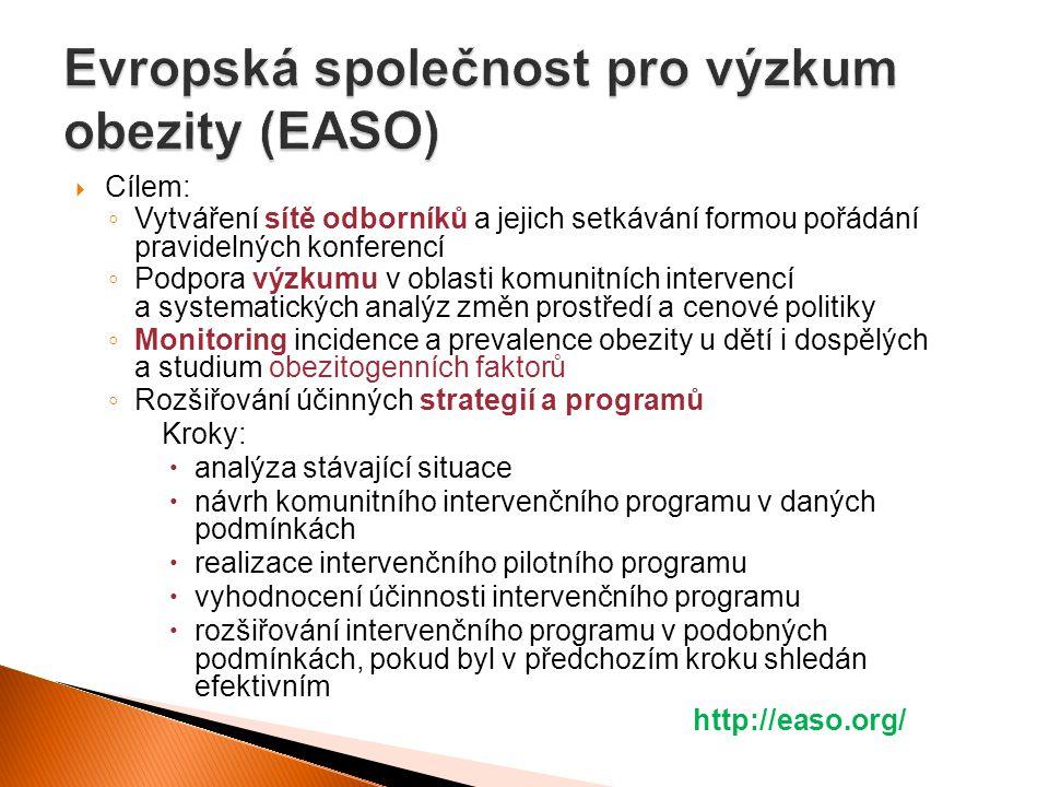  Cílem: ◦ Vytváření sítě odborníků a jejich setkávání formou pořádání pravidelných konferencí ◦ Podpora výzkumu v oblasti komunitních intervencí a sy