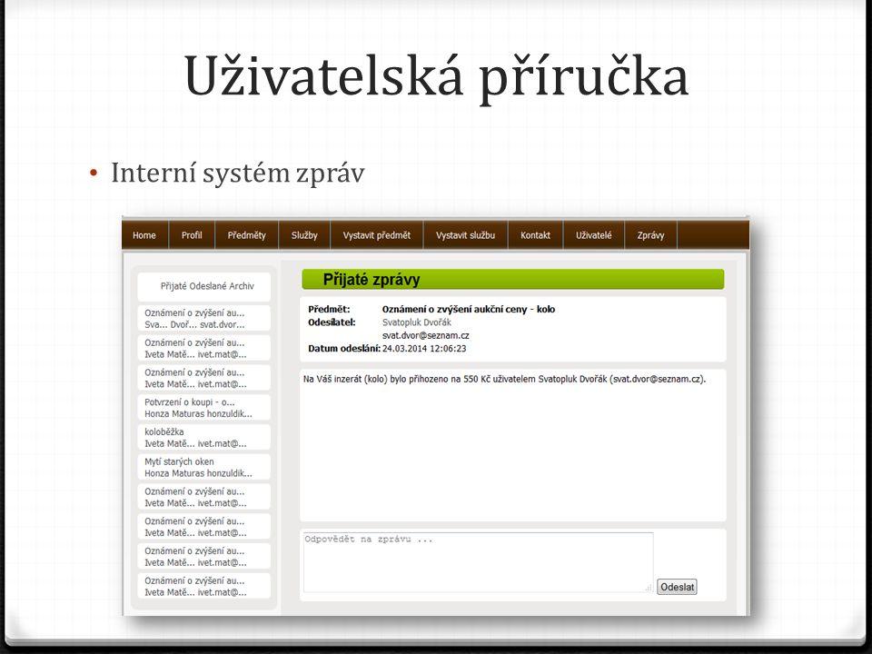 Uživatelská příručka Interní systém zpráv