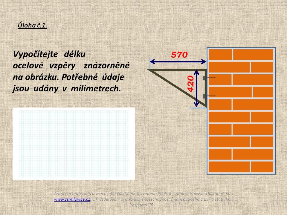 Vypočítejte spotřebu papíru na výrobu draka, který má tvar deltoidu.