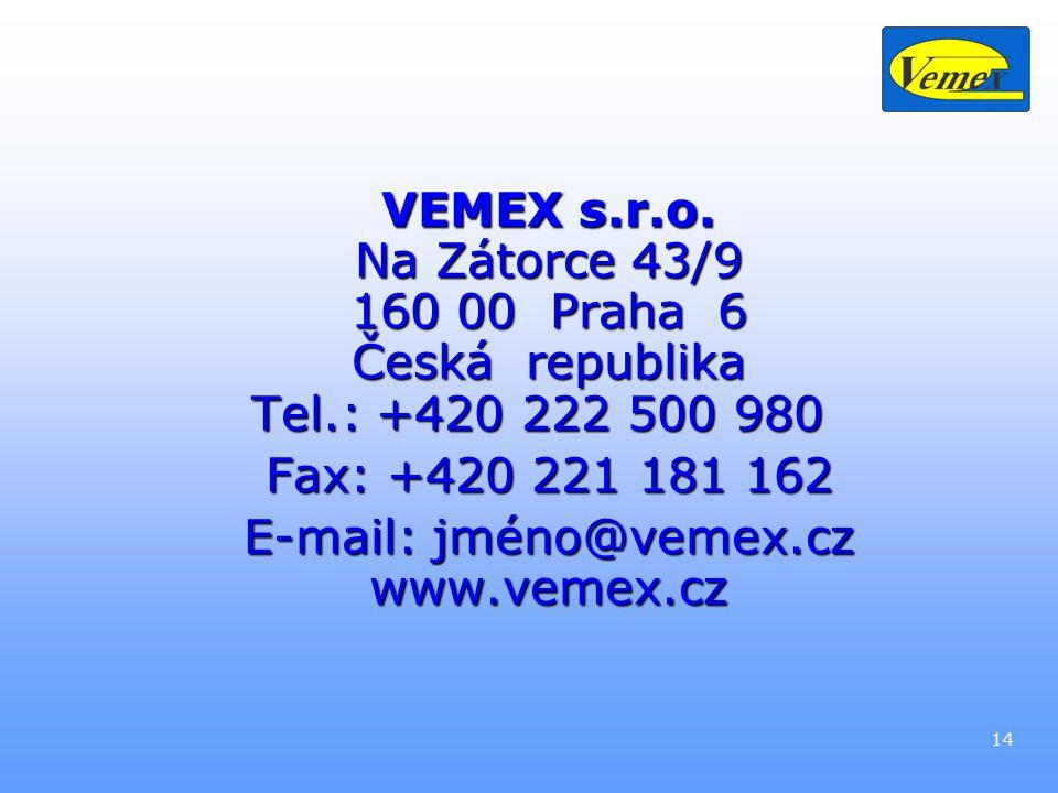 14 VEMEX s.r.o.