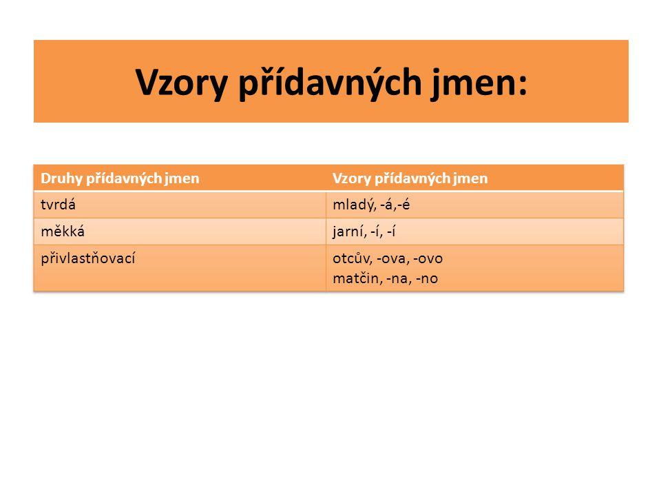 Vzory přídavných jmen: