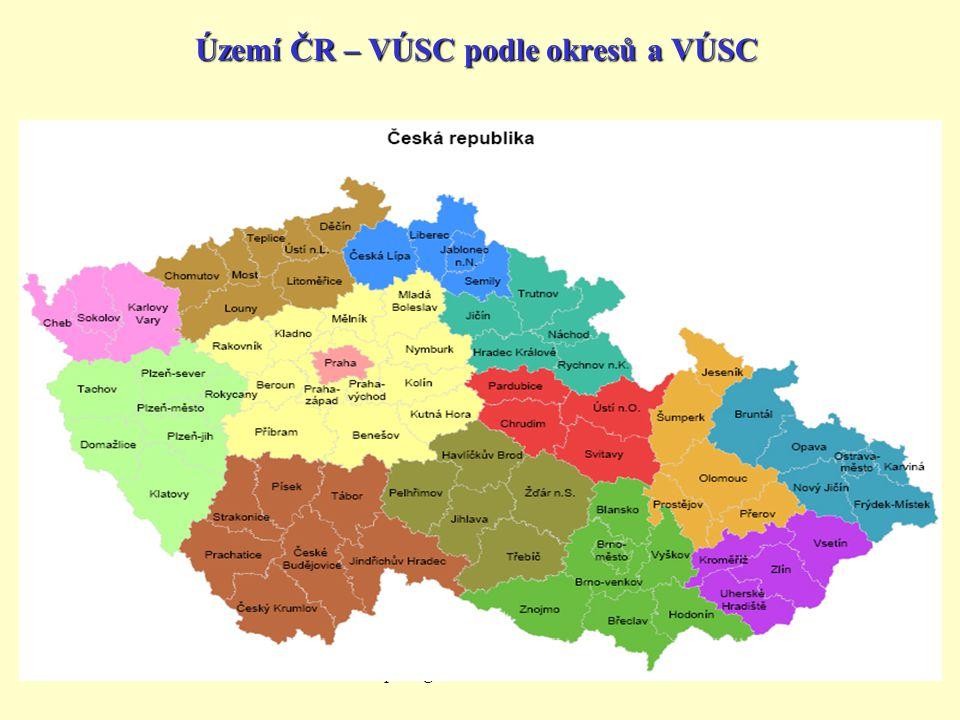 J.Filip: Organizace st.moci-bakaláři10 Území ČR – VÚSC podle okresů a VÚSC