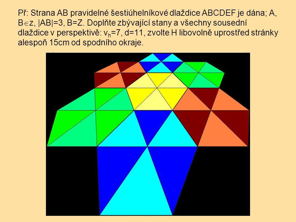 Př: Strana AB pravidelné šestiúhelníkové dlaždice ABCDEF je dána; A, B  z, |AB|=3, B=Z.