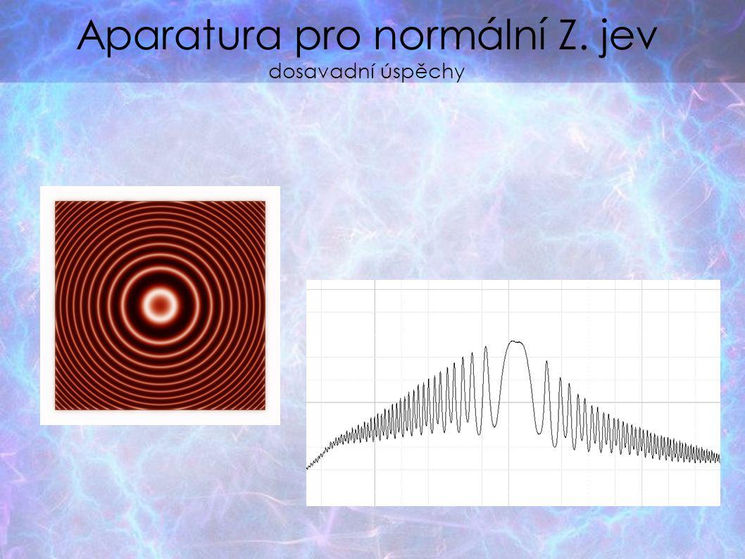 Aparatura pro anomální Z.jev zkoumání velmi jemné struktury el.