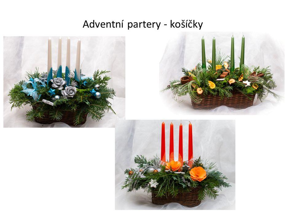 Adventní partery - košíčky