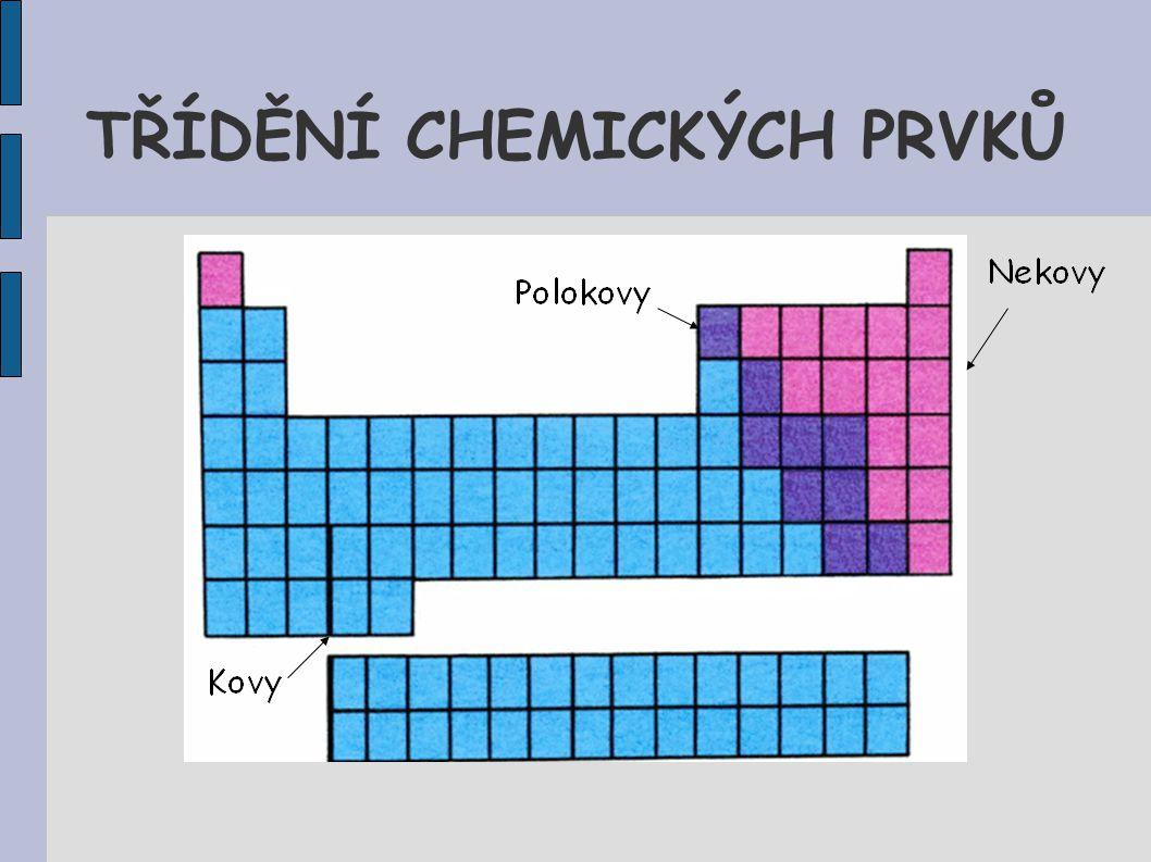 TŘÍDĚNÍ CHEMICKÝCH PRVKŮ