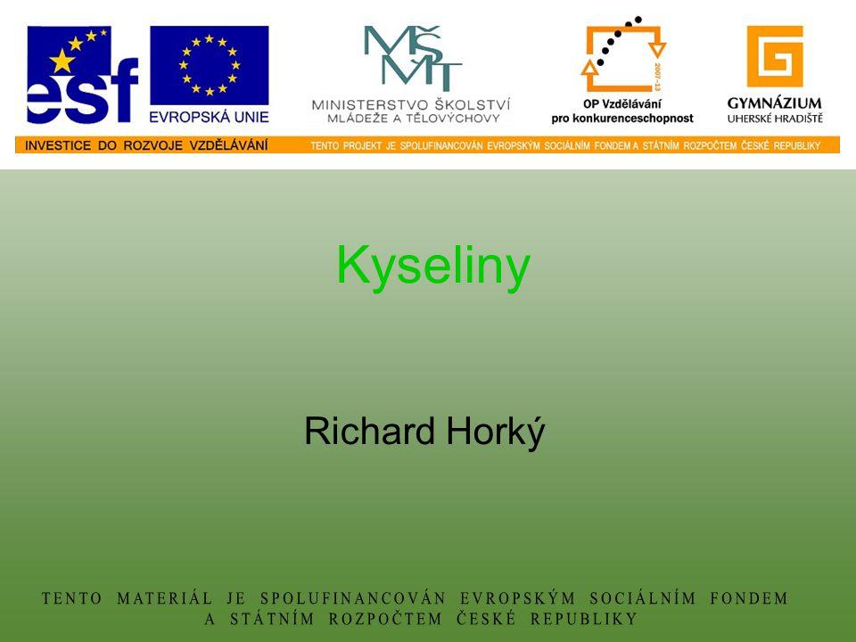 Kyseliny Richard Horký