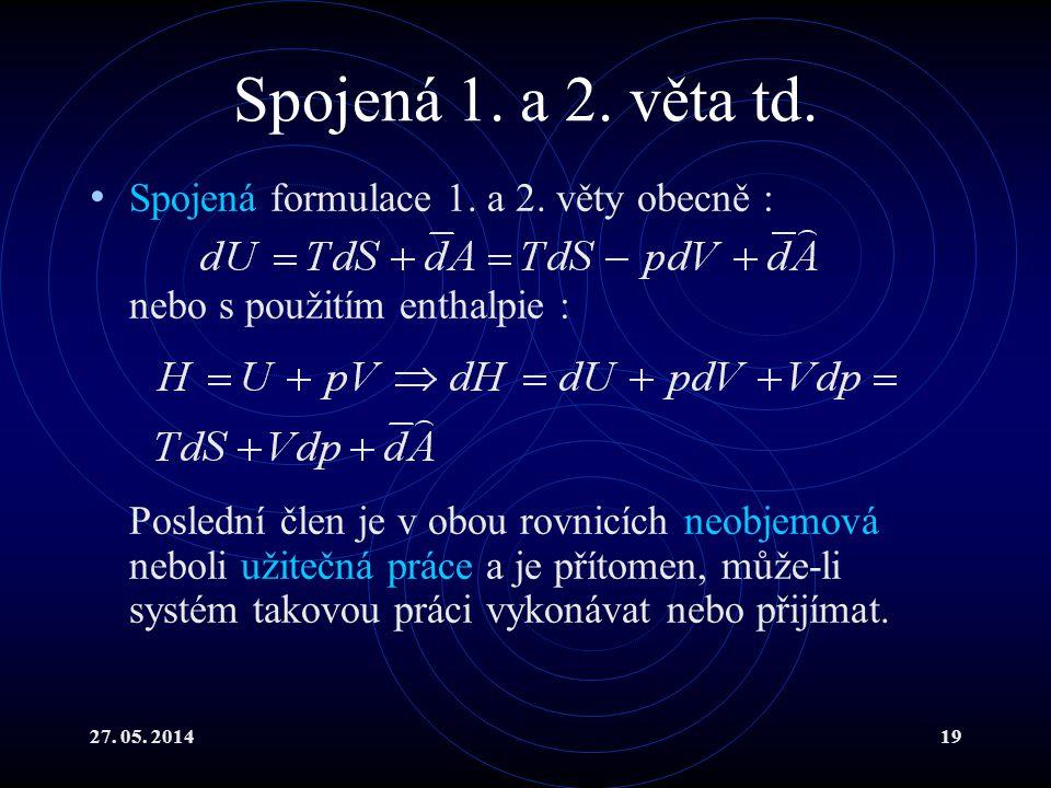 27. 05. 201419 Spojená 1. a 2. věta td. Spojená formulace 1.