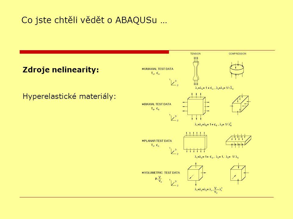 Zdroje nelinearity: Hyperelastické materiály: Co jste chtěli vědět o ABAQUSu …