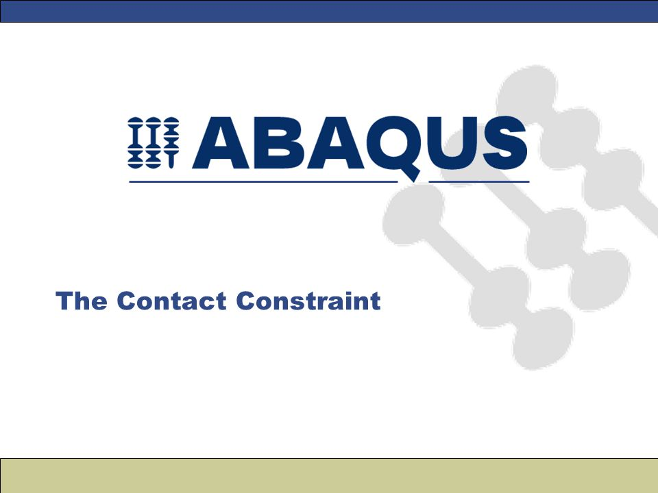 The Contact Constraint