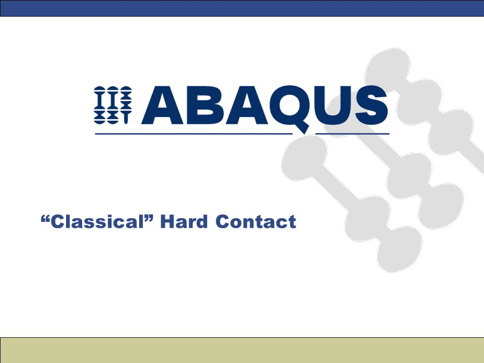 Classical Hard Contact